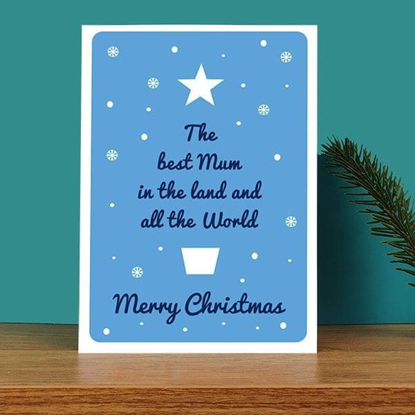 Best Mum in the Land Christmas Card