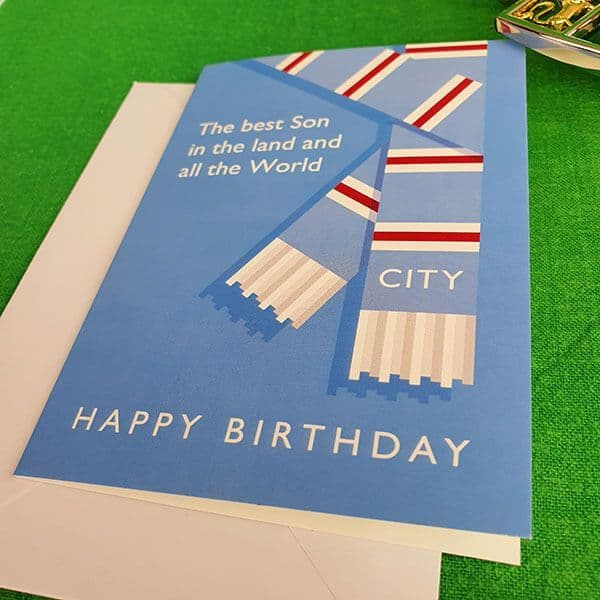 Best Son in the Land  City Birthday Card