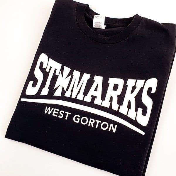 St Mark's Gorton Black T-shirt