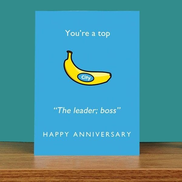 Top Banana Anniversary Card