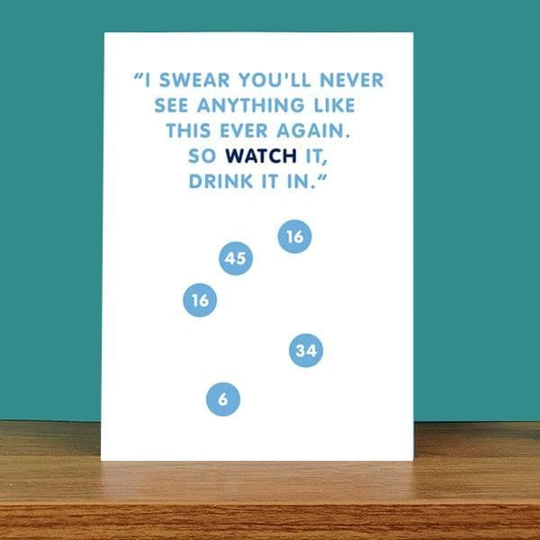 Watch It, Drink It In Card
