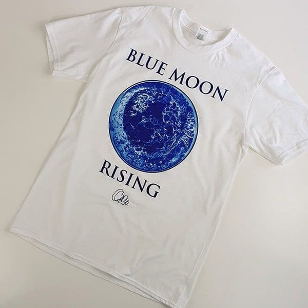 White Blue Moon Rising T-shirt