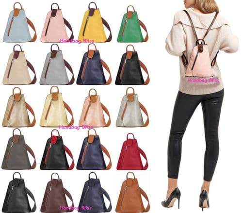 Handbag Bliss Beautiful Mini / Micro Super Soft Rucksack Backpack & Shoulder Bag