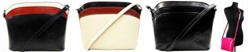 Handbag Bliss Italian Leather Cross-Body Shoulder Bag Handbag