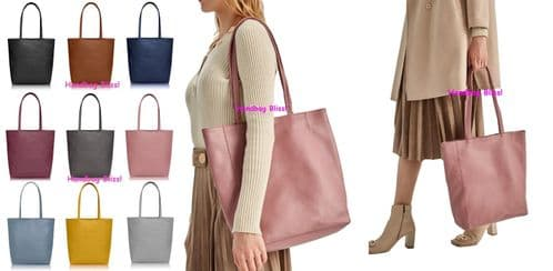 Handbag Bliss Italian Leather Shopper Style Tote Shoulder Handbag Shoulder Bag With Top  Zip Opening