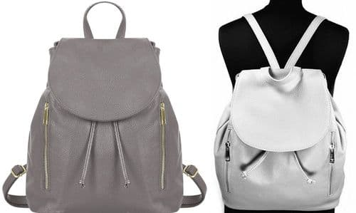 Handbag Bliss Large Italian Soft Grained Leather Backpack Rucksack (New Style)