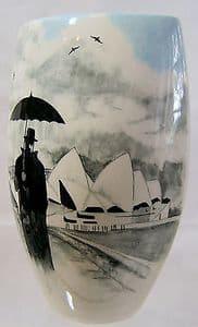 Artware Collect Tony Cartlidge Large Vase - Sydney Harbour & The Rainman
