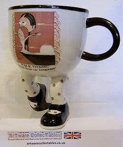 Artware Collectables Lustre Pottery Walking Ware Kneeling Cup -  The Titanic - TEMP OUT OF STOCK
