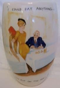 Artware Collectables Tony Cartlidge Tall Vase - Saucy Seaside No. 5 - 1/1 - SOLD