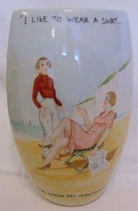Artware Collectables Tony Cartlidge Tall Vase - Saucy Seaside No. 7 - 1/1- SOLD