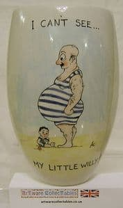 Artware Collectables Tony Cartlidge Tall Vase - Saucy Seaside No.2 - 1/1 - SOLD