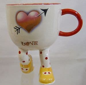 Artware Lustre Pottery Walking Ware Kneeling Cup - Valentine Special