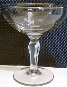 Babycham Original Glasses - Balustrade Stem - 2 ONLY REMAINING- SOLD