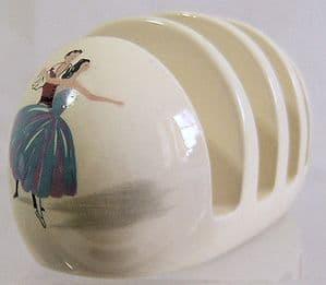 Beswick Ballet 4-Slice Toastrack - 1950s - SOLD