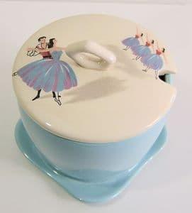 Beswick Ballet Preserve Pot - 1950s