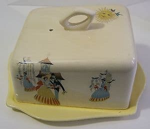 Beswick Happy Morn Butter Dish with Cover & Stand - 1950s