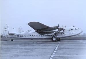 Black & White Photo Avro York C1 - OD-ACJ - Trans Mediterranean