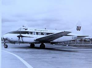 Black & White Photo British Westpoint DH Dove 104