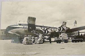 Black & White Postcard Civil Airliners - KLM Douglas DC-6A Liftmaster - 1960s