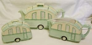 Burleigh Ware Caravan Tea Set - B D & L Mark - 1999 - SOLD