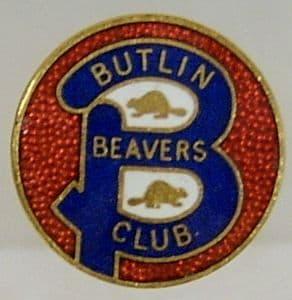 Butlin Holiday Beavers Club Enamel Pin Badge - Blue & Red