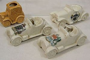 Carlton Crested China -  Open Top Motor Car -  Waterford Crest - 1920s + Others