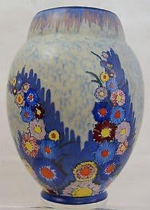Carlton Ware Art Deco 'Garden' Ovoid Medium Vase - 1930s - SOLD