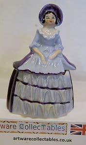 Carlton Ware Crinoline Lady Mustard Pot Figurine - 1930s SOLD