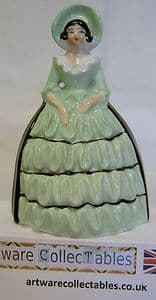 Carlton Ware Crinoline Lady Pepper Pot Figurine - 1930s