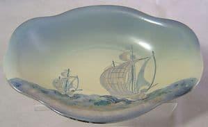 Carlton Ware 'Galleon' Light Blue Revo Bowl - 1930s  - SOLD