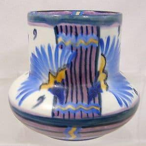 Carlton Ware Handcraft 'Flowering Papyrus' Small Squat Vase - 1930s - SOLD