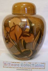 Carlton Ware 'Iris' Large Ginger Jar with Cover/Lid - 1960s - SOLD