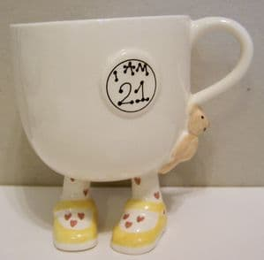 Carlton Ware Lustre Pottery 'I Am 21' Birthday Cup  - SOLD