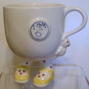 Carlton Ware Lustre Pottery 'I Am 6' Birthday Cup - SOLD