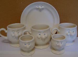 Carlton Ware Lustre Pottery Novelty Ware Mr Potts Breakfast Set