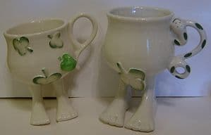 Carlton Ware Lustre Pottery - Walking Ware Adam & Eve Cups - SOLD