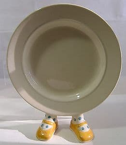 Carlton Ware Lustre Pottery Yellow Shoe Plate 1980s - SOLD