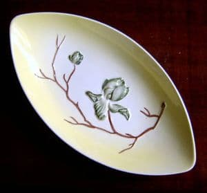 Carlton Ware Magnolia Boat-shaped Dish - 1950s