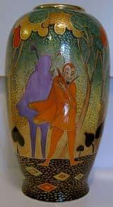 Carlton Ware - Marie Graves Large Vase - Mephistopheles - SOLD