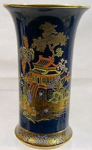 Carlton Ware New Mikado Cylindrical Vase - 1940s - SOLD