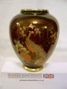 Carlton Ware - 'Pheasant' Rouge Lustre Ovoid vase 1930s - SOLD