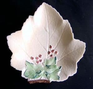 Carlton Ware Red Currant Leaf Design Dish - 1930s
