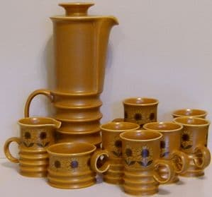 Carlton Ware Retro Complete Coffee Set - Sunflower Design