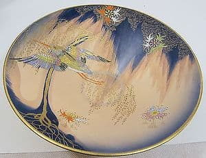 Carlton Ware - Sketching Bird Conical Comport Dish - 1930s - SOLD