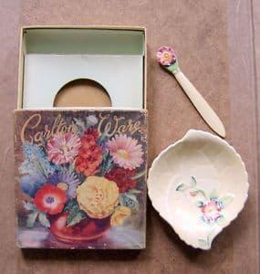 Carlton Ware Small Butter Dish - Wild Rose - Boxed