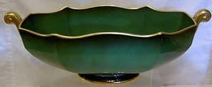 Carlton Ware Vert Royale Gondola Large Bowl  - Mid 1900s