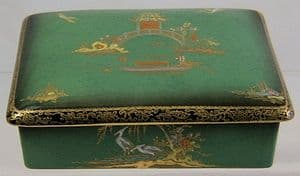 Carlton Ware Vert Royale 'New Mikado' Trinket/Cigarette Box - 1940s