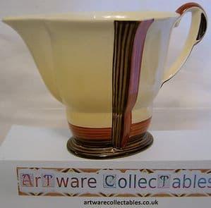 Carlton Ware 'Vertical Stripes' Cream Jug - Art Deco - 1930s - SOLD