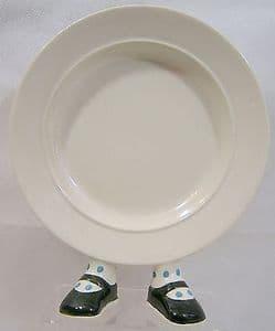 Carlton Ware Walking Ware Plate - Dark Green Shoes Blue Spots - SOLD