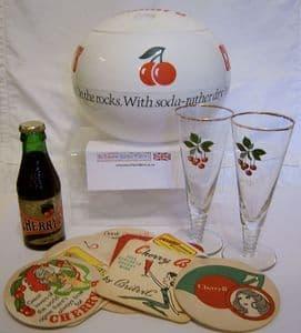 Cherry B Ice Bucket & Spiral Stemmed Tall Glasses Set - 1960s - SOLD